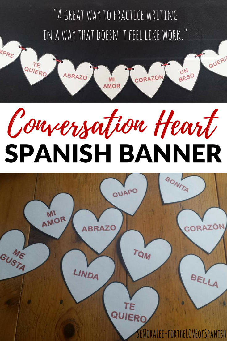 Spanish Conversation Heart Banner