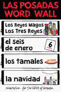 Spanish Las Posadas Word Wall
