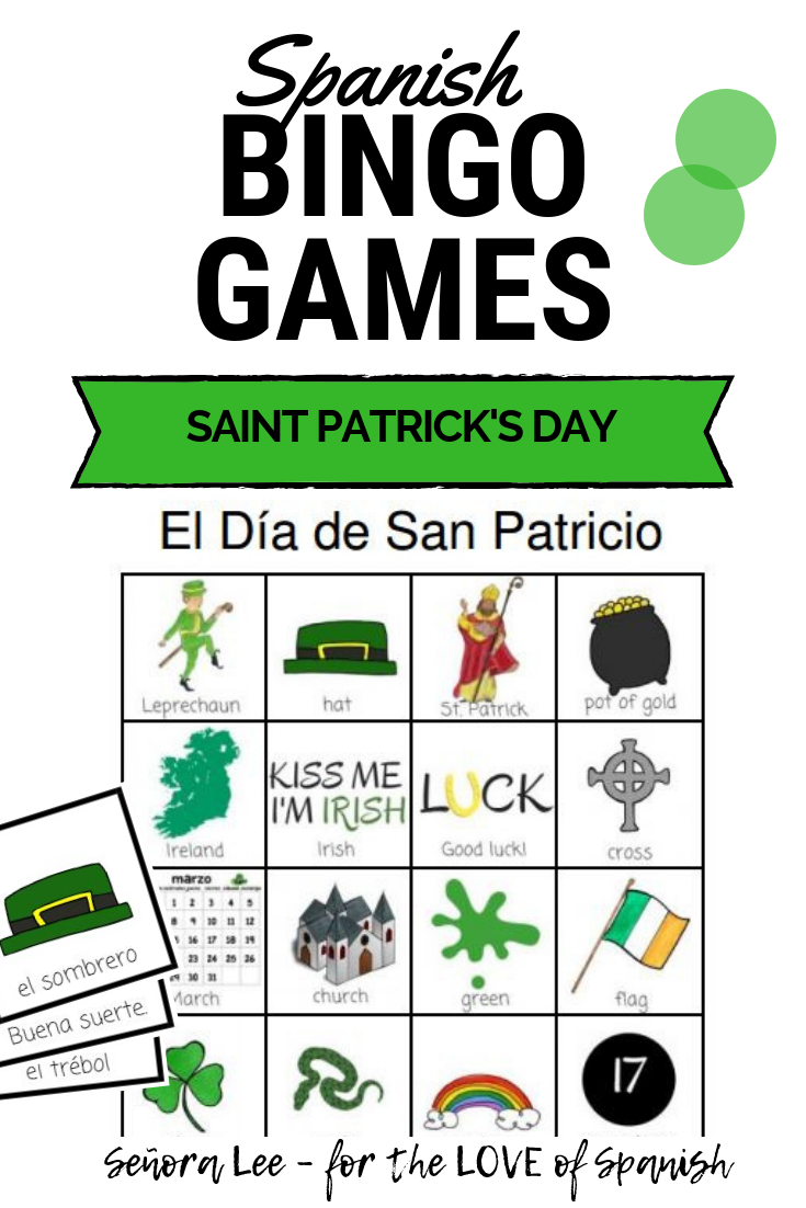 Spanish St. Patrick's Day Bingo