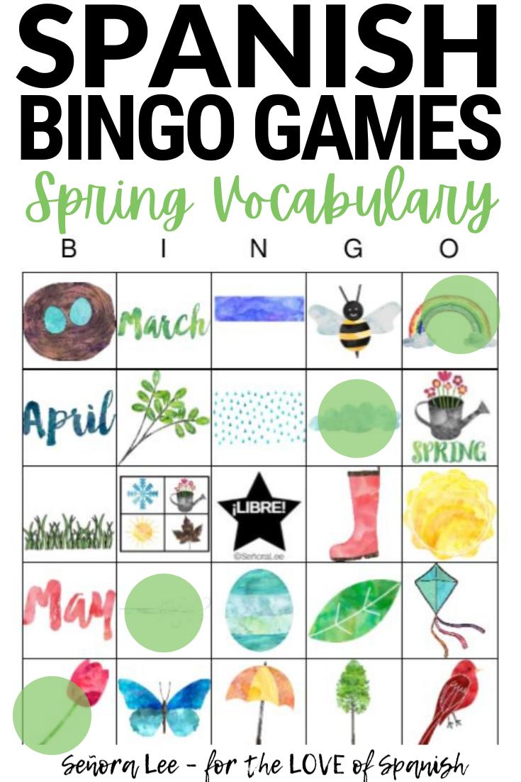 Spanish Spring Activity - Bingo