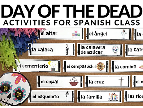 Day of the Dead Activities for Spanish Class