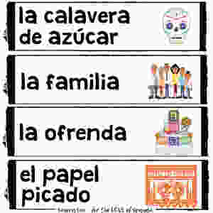 spanish day of the dead word wall