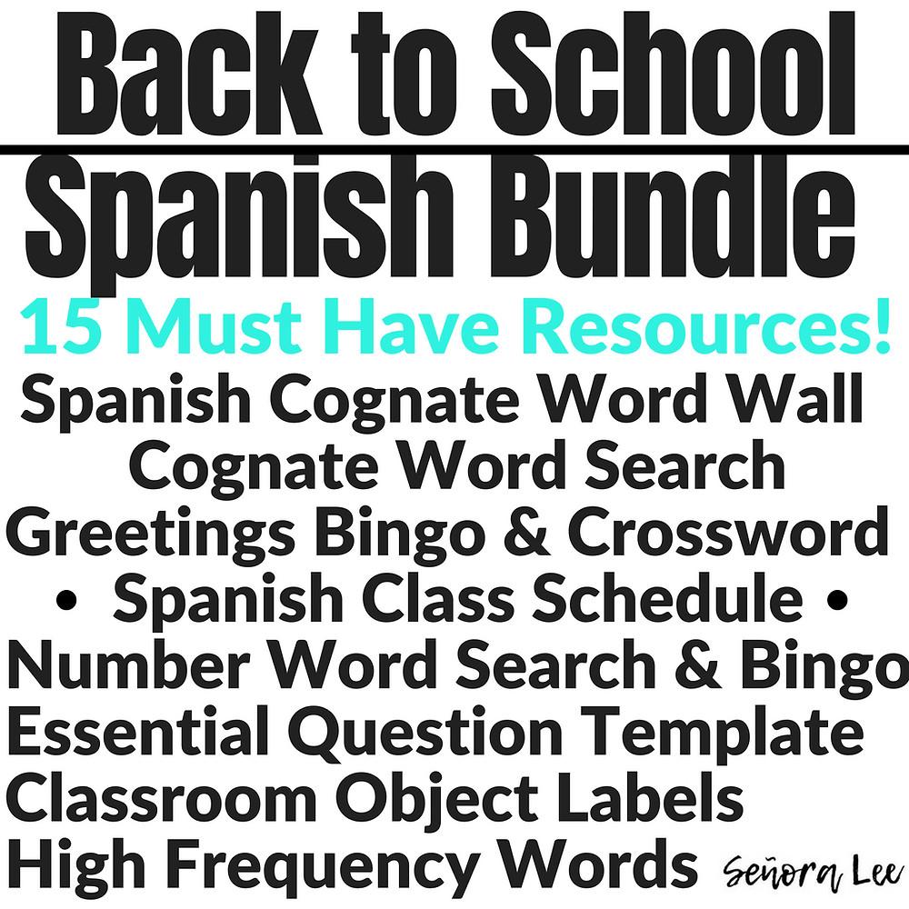 spanish back to school activities