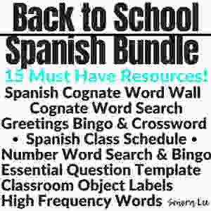 spanish back to school activities
