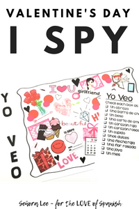 Spanish Valentines Day Activity - I Spy