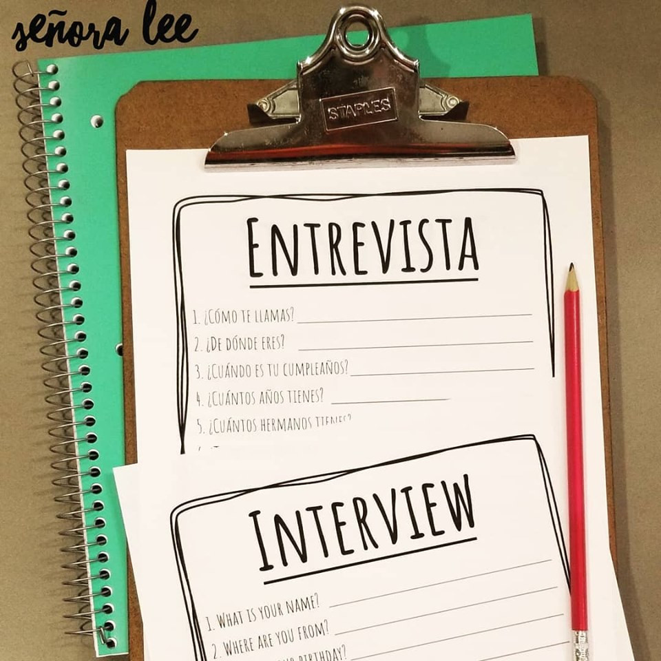 Spanish Interview Activity