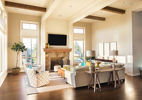 Furnished living Room Interior with Hard