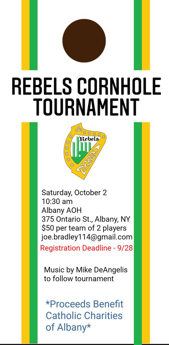 Rebels Cornhole Tournament - October 2