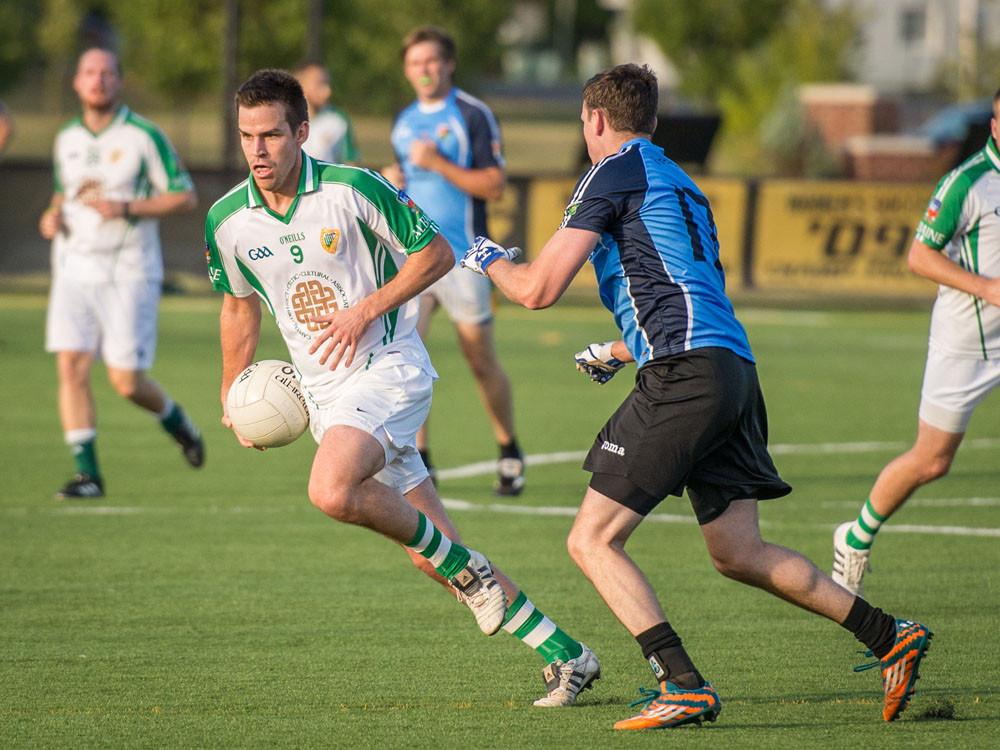 Mark Adam carrying the ball