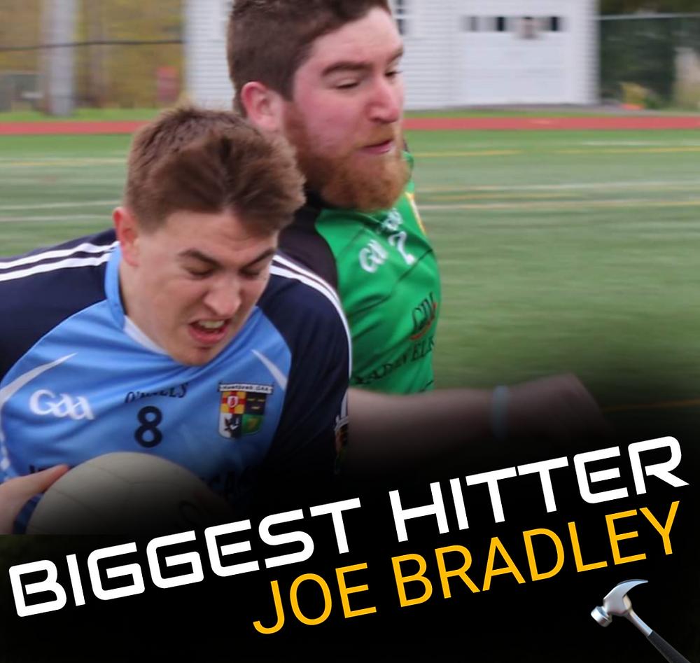 Joe Bradley hitting opponent