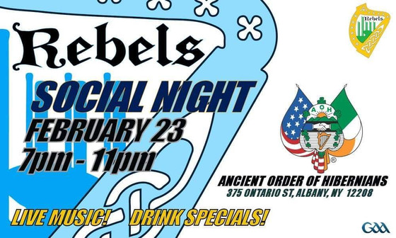 Rebels Social Night Rescheduled to February 23