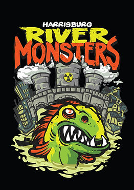 Harrisburg River Monsters hockey logo