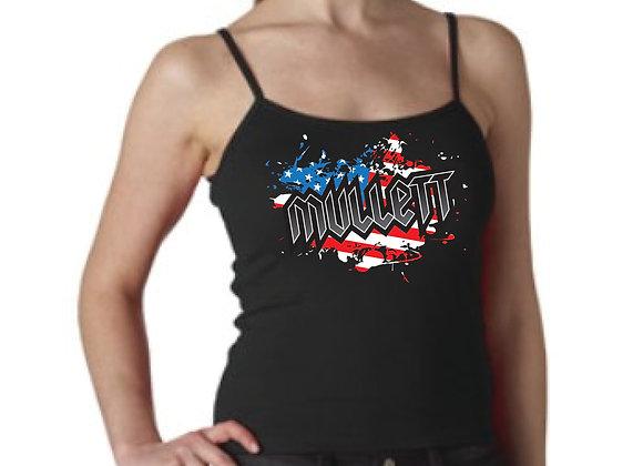 Women's Mullett Flag Shirt (Black)