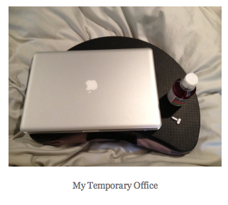 Working from Bed: How a sick mom does it