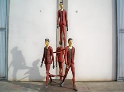 Roberto Barni - Maniera h. cm. 350 esposta alla sede di Pistoia della Fondazione