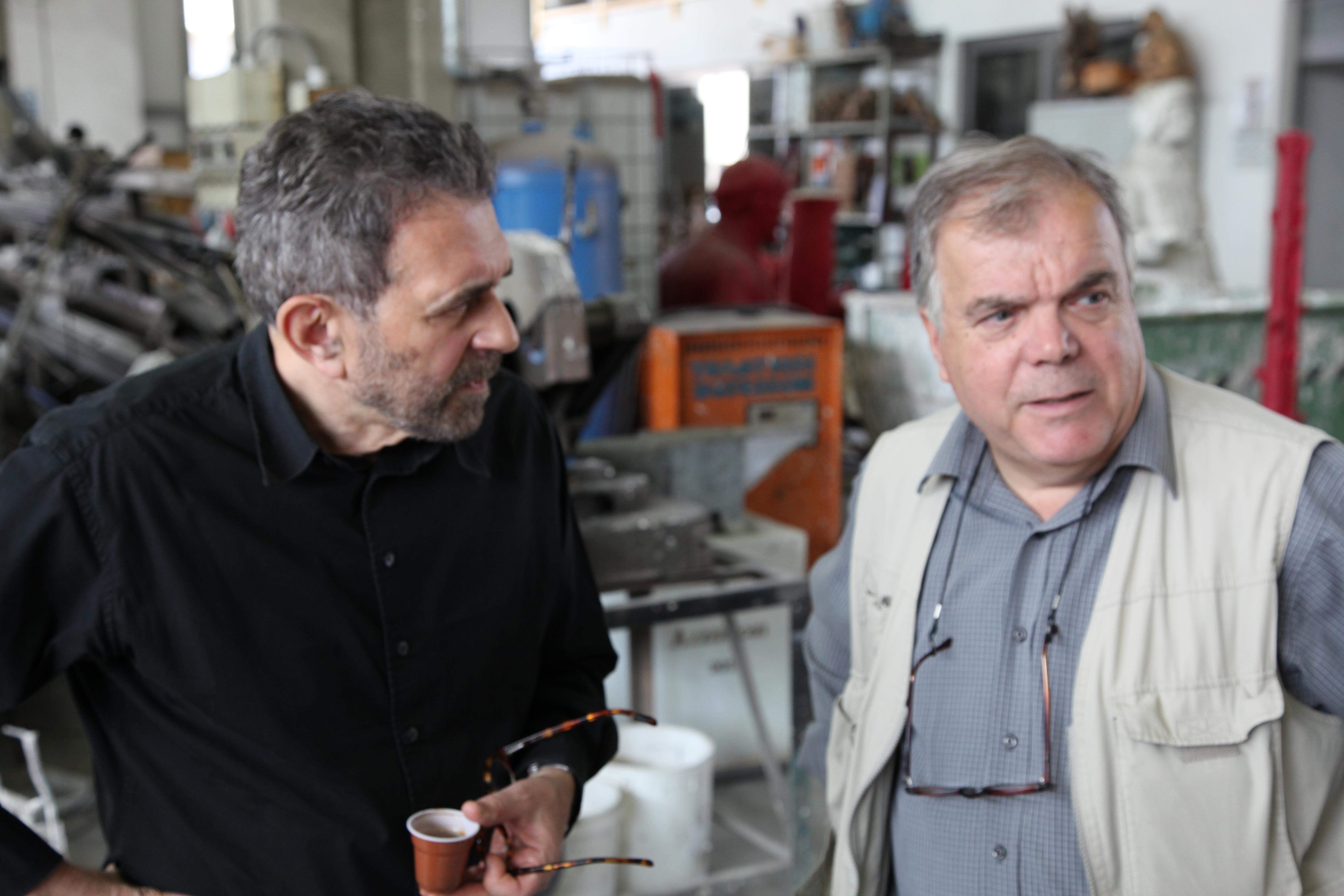 Grisha Bruskin ed Enrico Salvadori