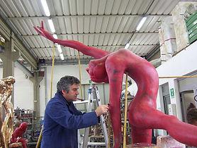 servizi scultori assistenza modellazione creta 3d scansione ingrandimento o riduzione armatura acciaio inox