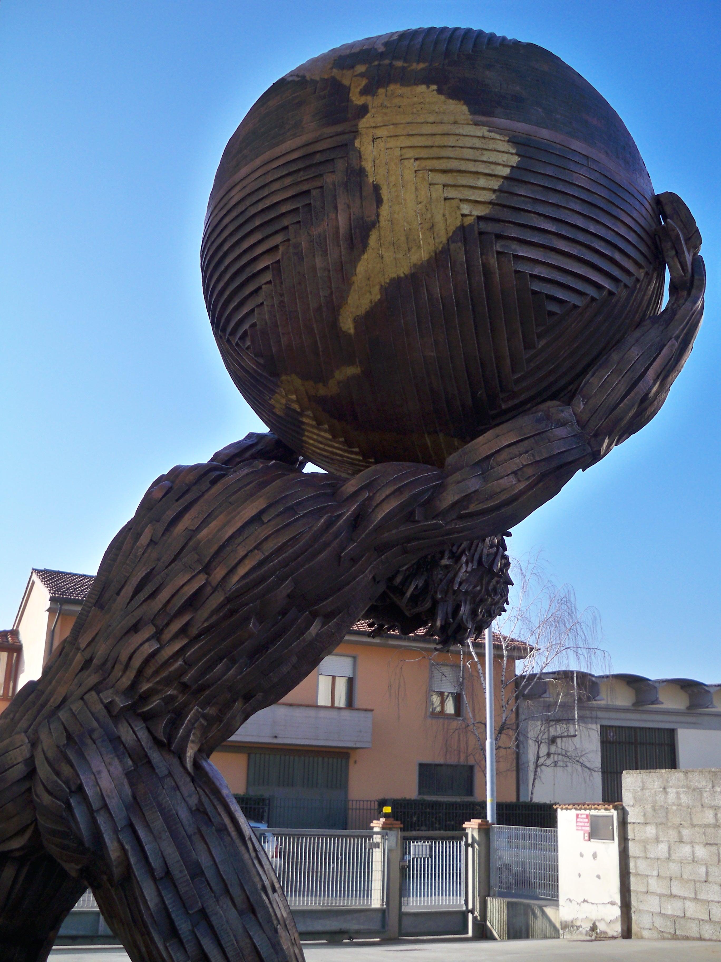 Mario Ceroli - Atlante h. cm. 350