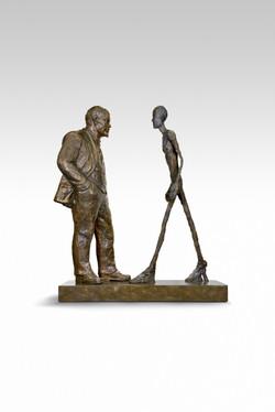 Sokov Leonid- Meeting Two sculptures - Lenin & Giacometti h.jpg