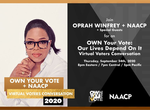 Oprah Winfrey, NAACP and National Voting Rights Leaders Join Together for National Town Hall