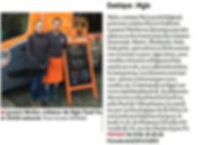 Article de Presse de Mylo Food Truck sur le journal Le progrès du 18 novembre 2016