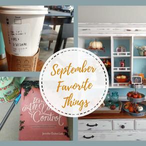 September Favorite Things