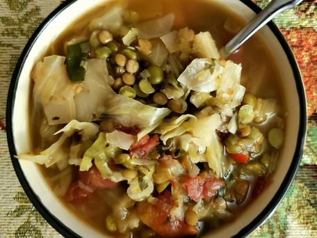 Cabbage Lentil Crockpot Soup
