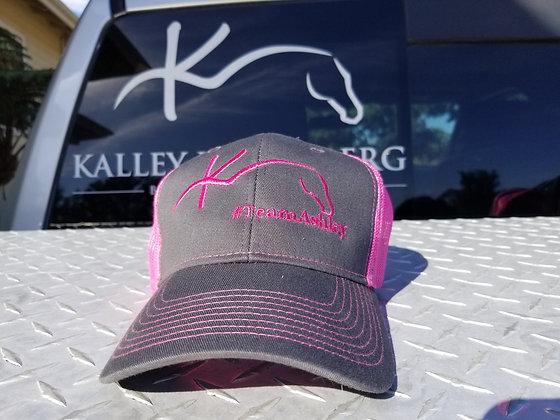 Pink/Charcoal Team Ashley ball cap