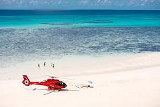 Heli on sand cay 01.jpg