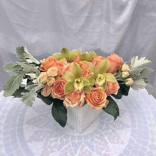 Elegant Peach Colored Floral Kisses