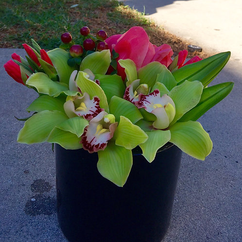 Cymbidium Orchids, Peoonies, Coco and Lily Spread