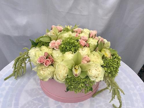 Lemonade Inspired Fresh Blooms Cradled by Soft Pink