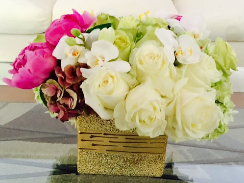 Peonies, Assorted Roses and Hydrangeas and Orchids