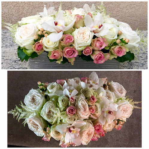 Blushing Roses - Garden Roses, Roses and Orchids