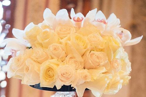 Roses and Cymbidium Orchids