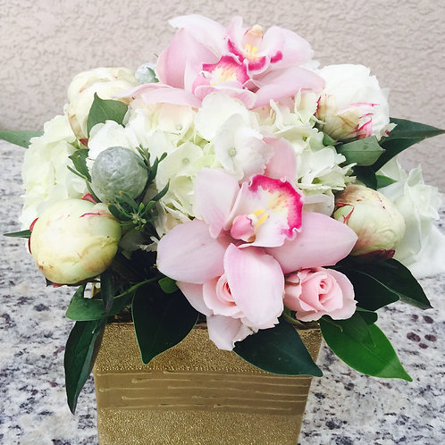 Peonies, Roses, Orchids and White Hydrandea