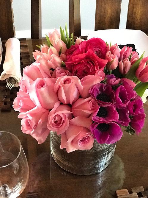 Roses, Tulips, Ranunculus, Anemone, Tulips and Hydrangeas