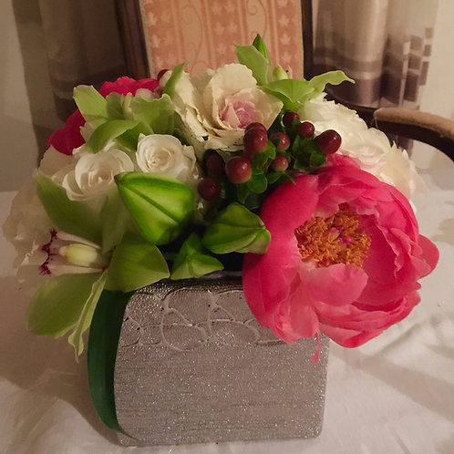 Peony, Lily, Kale, Orchid and Rose Burst