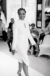 Gacitua - Long Sleeve Sequin Dress Organza Chest Keyhole