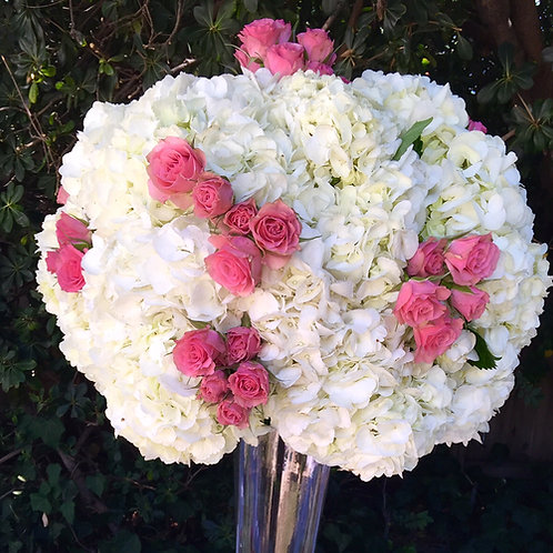 Hydrangea Ball with Spray Roses