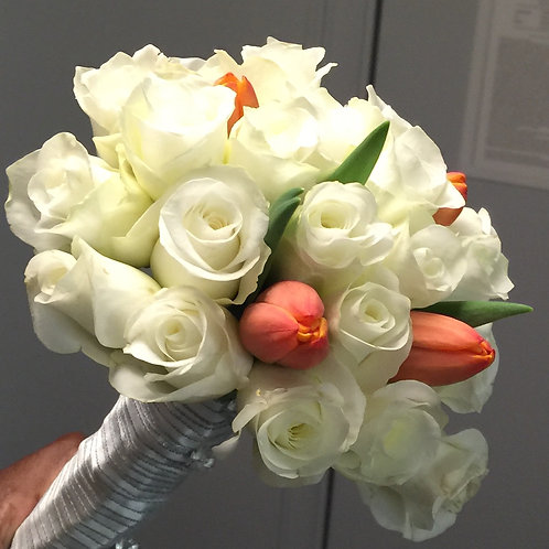 Miniature Bridal Bouquet - Roses and Tulips