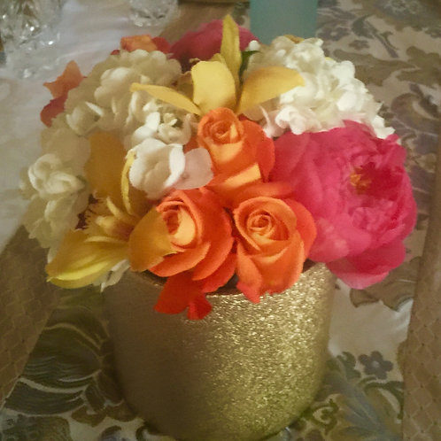 Autumn Bubble-Peonies, Orchids, Roses + Hydrangeas