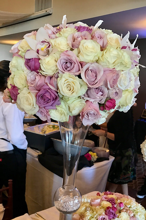 Roses, Spray Roses and Cymbidium Orchids