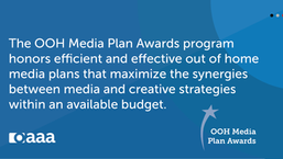 Applications Open for 2020 OOH Media Plan Awards