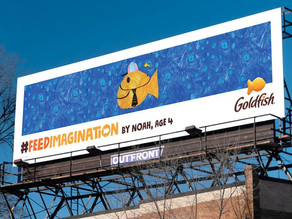 Goldfish Crackers Uses Kids' Artwork for Billboard Campaigns