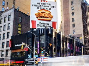 KFC targets rival chicken sandwiches with billboards