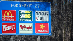 Get Featured on Blue Highway Exit Signs