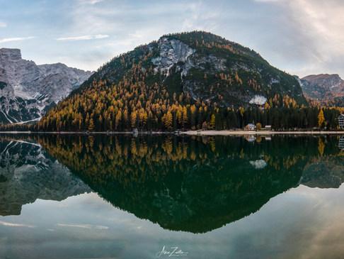 Pano Braies lake