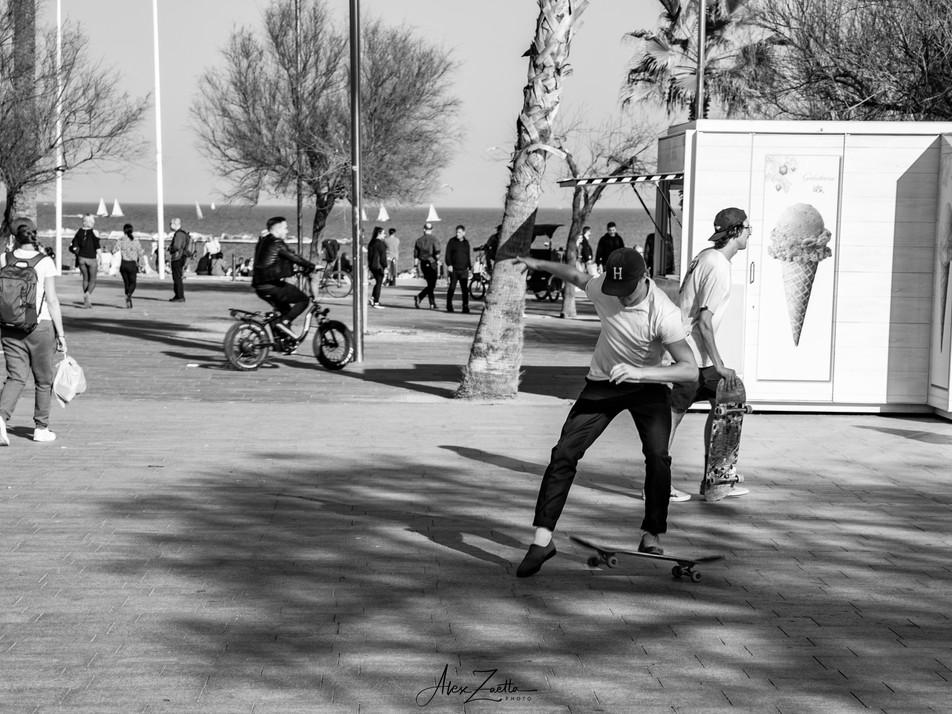 Skater shot