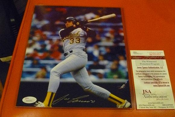 Jose Canseco Autographed Photo (#3) - JSA Cert